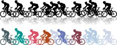 Cycling,Bicycle,Sports Race,Competition,Silhouette,Cycle,Back Lit,Sport,Vector,Ilustration,Action,Exercising,Pursuit,The Olympic Games,Relaxation Exercise,Recreational Pursuit,Healthy Lifestyle,Computer Graphic,Hobbies