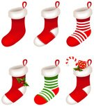 Christmas Stocking,Christmas,Sock,Computer Icon,Red,Gift,Clip Art,Candy,Bow,White Background,Green Color,Set,Christmas Decoration,Leaf,Vector,Clothing,Ribbon,Berry Fruit,Holly,Design,Illustrations And Vector Art,Holiday,Fashion,Textile,Collection,Isolated,Christmas,Flower,Ilustration,Season,Holidays And Celebrations