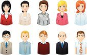 Human Face,Avatar,Symbol,Computer Icon,Business Person,Icon Set,Women,People,Occupation,Men,Business,Manager,Office Interior,Professional Occupation,Cheerful,One Person,Team,Teamwork,Leadership,Expertise,Illustrations And Vector Art,Business,Business People,People,Vector Icons