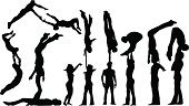 Circus,Acrobat,Silhouette,Acrobatic Activity,Gym,People,Male,Vector,Jumping,Dancing,Performance,Portrait,Entertainment,Women,Occupation,Happiness,Action,Exercising,Cheerful,Relaxation Exercise,Men,Joy,Weather,Female,Computer Graphic,Adult,Design,Fun,Young Adult,Carefree,Excitement,Celebration,Beautiful,Sports Training,Emotion,Physical Activity,Energy,Cute,Playful,Motion