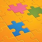 Puzzle,Jigsaw Puzzle,Connection,Pattern,High Angle View,Vector,Concepts,Ideas,Color Image,Togetherness,Pink Color,No People,Orange Color,Design,Concepts And Ideas,Illustrations And Vector Art,People,Teamwork,handcarves,Horizontal,Ilustration,Computer Graphic,Green Color,Blue