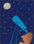 Hand-Held Telescope,Looking,Astronomy,Star - Space,Sun,Astronomer,Observatory,Forecasting,Moon,Alien,Futuristic,Scientist,Moon Surface,Space,Sky,Vector,Night,Spectator,Ilustration,Communication,Exploration,Global Communications,Business,Business,Medicine And Science,Business Concepts
