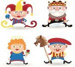 Joker,King,Jack,Queen,King Card,Queen Card,Jester,Hat,Crown,Symbol,Cards,Vector,People,Cartoon,Horse,Red,Isolated,Ilustration,Humor,Women,Characters,Human Face,Illustrations And Vector Art,Flower,Single Flower,Four People,Sword,People,Warrior,Little Boys,Isolated Objects,Men,Suit