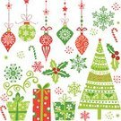 Christmas,Christmas Tree,Christmas Ornament,Christmas Decoration,Gift,New Year's Eve,Tree,Vector,Snowflake,Computer Graphic,Ribbon,Ilustration,Clip Art,Red,Green Color,Design,Sphere,Star Shape,New Year,Cane,Illustrations And Vector Art,Arts And Entertainment,Vector Ornaments,Christmas,Holidays And Celebrations,Arts Backgrounds