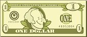Dollar,One Dollar Bill,US Paper Currency,Currency,Cartoon,Paper Currency,Vector,Wealth,Humor,Number 1,George Washington,Savings,USA,Ilustration,Finance,President Of The USA,Vector Cartoons,Real People,Document,People,Tax,Concepts And Ideas,Banking,American Culture,Illustrations And Vector Art