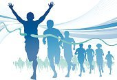 Running,Jogging,Marathon,Sport,Silhouette,Competition,Sports Race,Exercising,Group Of People,Men,Women,Athlete,People,Computer Graphic,Backgrounds,Abstract,Success,Vector,Outline,Distance Running,Speed,Swirl,Pattern,Action,Competitive Sport,Digitally Generated Image,Striped,Crowd,Ilustration,Wave Pattern,Clip Art