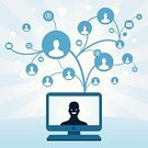 Social Issues,Communication,Web Page,Internet,Connection,Growth,Design,E-Mail,Tree,Link,Digitally Generated Image,Computer Icon,Profile View,Computer,Contact Lens,Ilustration,Computer Graphic,Bubble,Blue,Collection,Togetherness,Isolated,Silhouette,Design Element,Mail,Vector,Computer Monitor,Spinning,PC,Back Lit,Ripple,Rippled,Computer Part,Outline,Shape,Technology,Bright,Vibrant Color,Communications Technology,Clip Art,Curled Up,Swirl,Envelope,Communications Technology,Set