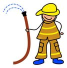 Firefighter,Child,Baby,Fire Hose,Water,Occupation,Toddler,Protective Workwear,Uniform,Little Boys,Ilustration,Isolated,Clip Art,Illustrations And Vector Art,Lifestyle,handcarves,People,Babies And Children,Service,Cute,Repairing,Lifestyles,People
