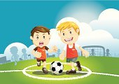 Soccer,Child,Football,Cartoon,Education,Sport,Playground,Schoolyard,Playing,Running,Little Boys,Stadium,sporting,Vector,Men,Kicking,Smiley Face,Human Foot,Recreational Pursuit,Outdoors,Ball,Team,Back to School,Action,Male,Competitive Sport,Exercising,Sports And Fitness,Vector Cartoons,Laughing,People,happinesss,Happiness,Playing Field,Actions,Team Sports,Grass,Illustrations And Vector Art,Smiling,Land,Striker,Sports Team,Sports Clothing