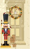Nutcracker,Door,Christmas,Wreath,Holiday,Toy Soldier,Doll,Old-fashioned,Craft Product,Wood - Material,Figurine,Toy,Old,Knick Knack,Bird,Hat,Uniform,Antique,Vector Ornaments,Still Life,Illustrations And Vector Art,Multi Colored,Holiday Backgrounds,Christmas,Christmas Decoration,Headwear,Run-Down,Mustache,Yellow,The Steadfast Tin Soldier,Decoration,Grunge,Holidays And Celebrations