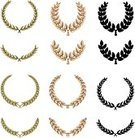 Laurel Wreath,Olive Branch,Greek Culture,Ancient Olympic Games,Leaf,Roman,Classical Greek,Crown,Rome - Italy,Coat Of Arms,Julius Caesar,Symbol,Branch,Award,Ancient,Gold,Gold Colored,Sign,Medal,Nobility,Honor,Vector,Leadership,The Past,Winning,Celebration,Old-fashioned,Ancient Rome,Cultures,Black Color,Silhouette,Decoration,Ancient Greece,Green Color,Diadem,Achievement,Antique,Peace Symbol,Competitive Sport,Floral Pattern,Isolated,Shiny,First Place,Grid