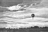 Engraving,Engraved Image,Hot Air Balloon,Cloud - Sky,Cloudscape,Sky,Old-fashioned,Retro Revival,Air,Heat - Temperature,Sun,Ilustration,Black And White,Landscape,Sketch,Sunlight,Antique,History,Victorian Style,Drawing - Art Product,Obsolete,Painted Image,19th Century Style,Art,Old,France,Cultures,Moody Sky,Travel,Book,Sunbeam,Flying,Europe,Paper,Print,Photography,Geographical Locations,Sky Only,Scenics,Document,Aging Process,Isolated On White,Pencil Drawing,French Culture,Science,Isolated,Non-Urban Scene,Printout,Publication,Famous Place,Newspaper,Magazine,Risorgimento,Stained,Hot-air Baloon,Renaissance,Urban Scene,Classical Style,Wrinkled