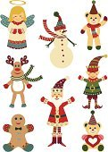 Christmas,Elf,Angel,Symbol,Snowman,Bear,Santa Claus,Reindeer,Computer Icon,Characters,Cute,Tree Topper,Teddy Bear,Avatar,Deer,Winter,Holiday,Cultures,Animal,Celebration,Happiness,Christmas,Cheerful,Illustrations And Vector Art,December,Arts And Entertainment,Holidays And Celebrations