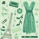 Clothing Store,Paris - France,Fashion,Eiffel Tower,French Culture,High Heels,Art,Beauty Product,France,Pattern,Earring,Ilustration,Dress,Bag,Bracelet,Symbol,Beauty,Tower,Computer Graphic,Design Professional,Modern,Backgrounds,Vector,Glamour,Green Color,Perfume,Elegance,Illustrations And Vector Art,Brooch,Belt,Fashion,Collection,Style,Objects/Equipment,Set,Female,Youth Culture,Dress Shoe,Beauty And Health,Boutique,Ring,Clothing,Beautician