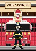 Fire Station,Firefighter,Fire Engine,Cartoon,Characters,Ilustration,Red,Door,Jacket,Electric Lamp,Clip Art,Station,Transportation,Blue Eyes,Occupation,People,One Person,Smiling,Pants,Cute,Standing,Modern,Vector Cartoons,Urban Scene,Architecture,Boot,Emergency Services Vehicle,Work Helmet,Mode of Transport,Building Exterior,Teenage Boys,Protective Glove,Badge,Axe,Illustrations And Vector Art,Uniform,Emergency Services,Heroes,Sidewalk,Emergency Services Occupation,Vector,Transportation,Built Structure,Cool