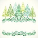 Christmas,Frame,Tree,Modern,Christmas Tree,Winter,Ornate,Christmas Decoration,Nature,Evergreen Tree,Elegance,Vector,Landscape,Beauty In Nature,Lace - Textile,Green Color,Leaf,Swirl,Illustrations And Vector Art,Nature,Vine,Landscapes,Holidays And Celebrations,Christmas,Copy Space