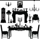Furniture,Table,Silhouette,Chair,Antique,Old-fashioned,Fireplace,Victorian Style,Dining,Vase,Obsolete,Dinner,Vector,Old,Domestic Room,Classic,Food,Flower,Indoors,Candle,Plate,Clock,Black Color,Photograph,Meal,Cultures,Corridor,Wine Bottle,Plant,Entrance Hall,Wine,Work Tool,Wood - Material,Glass,Cushion,Decoration,Seat,Glass - Material,Lighting Equipment,Viewpoint,Design,Ideas,Jug,Architecture And Buildings,Alcohol,Illustrations And Vector Art,Homes,Drink,Objects/Equipment,Household Objects/Equipment,Inspiration