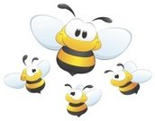 Bee,Vector,Cartoon,Insect,Mascot,Ilustration,Cheerful,Child,Honey,Clip Art,Cute,Smiling,Set,Insects,Vector Cartoons,Illustrations And Vector Art,Fun,Flying,Yellow,Animals And Pets