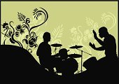 Drum,Percussion Instrument,Silhouette,Music,Defeat,Vector,Profile View,Ilustration,Men,Plant,People,Performer,Play,Sound,Popular Music Concert,Decoration,handcarves,Arts And Entertainment,People,Back Lit,Clip Art,Music,Nightlife,Christmas Decoration,Ornate,Computer Graphic,Performance,Creativity,Elegance