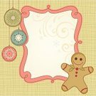 Frame,Gingerbread Cookie,Gingerbread Cake,Christmas,Retro Revival,Gingerbread Man,Cartoon,Cute,Banner,Scrapbook,Holiday,Christmas Ornament,Vector,Design,Snowflake,Christmas Decoration,Square,Holly,Symbol,Vertical,Swirl,Copy Space,Ornate,Berry Fruit