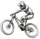Cycling,Bicycle,Mountain Bike,Moving Down,Mountain Biking,Mountain,Cycle,Extreme Sports,Sports Race,Riding,Sports Helmet,Cyclist,Adventure,Dirty,Jumping,Competition,Sport,Dirt,Motion,Wheel,Speed,Athlete,Blurred Motion,Motorcycle Racing,Vector,Sports And Fitness,Action,One Person,Danger,Men,Mountain Range,Outdoors,Exercising,Relaxation Exercise,Healthy Lifestyle,Ilustration,Male,Adult,Illustrations And Vector Art,Nature,Lifestyles,Leisure Activity,Lifestyle,Summer