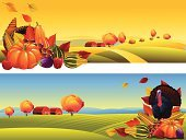Cornucopia,Thanksgiving,Farm,Autumn,Turkey - Bird,Crop,Harvesting,Hill,Pumpkin,Landscape,Harvest Festival,Non-Urban Scene,Vegetable,Apple - Fruit,Farmhouse,Barn,Ilustration,Fruit,Horizontal,Nature,Dry,Maple Leaf,Pepper - Vegetable,Eggplant,Vector Backgrounds,Colors,Thanksgiving,Landscapes,Season,Copy Space,Melon,Outdoors,Grape,Holidays And Celebrations,Composition,Illustrations And Vector Art,autumn leaves,Nature,Vector,Corn,Vanishing Point,Backgrounds
