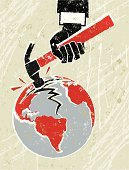Impact,Earthquake,Investment,Hammer,Breaking,Broken,Human Hand,Earth,Silk Screen,Globe - Man Made Object,Planet - Space,Fracture,Fist,Business,Gripping,Concepts,Recession,Environment,Global Warming,Cracked,Disaster,Global Finance,Physical Pressure,Environmental Conservation,Finance,Green Color,Ideas,Poster,Natural Disaster,Red,Vector,Textured Effect,Simplicity,Economic Depression,Modern Life,Grunge,Business Concepts,Concepts And Ideas,Anger,Depression - Sadness,rupture,Lifestyles,Negative Emotion,Vertical,Growth,Nature,Spreading,Violence,Black Color,Ilustration,Global Crisis,Nature Symbols/Metaphors,Stock Market Crash,Print,Business,Nature,Copy Space
