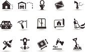 Symbol,House,Home Improvement,Computer Icon,Home Interior,Residential Structure,Icon Set,Garage,Plan,Home Addition,Toilet,Clean,Landscaped,Gardening,Building - Activity,Drill,Hammer,Industrial Garbage Bin,Work Tool,Garbage,Paint,Vector,Black Color,Construction Industry,Equipment,Toilet Bowl,Power Tool,Water Pipe,Pipe - Tube,Broom,Three Dimensional,Growth,Toilet Seat,Instrument of Measurement,Pipeline,Ilustration,Paint Roller,Nail,Interface Icons,Clip Art,Building Exterior,Recycling Symbol,Pipe Connector,Toilet Seat Cover,Shovel,Construction,Industry,Objects/Equipment
