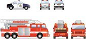 Fire Engine,Rear View,Firefighter,Side View,Front View,Car,Truck,Police Force,Cartoon,Symbol,Ilustration,Land Vehicle,Emergency Services,Vector,Protection,Cute,Tire,Isolated,White,Rubber,Wheel,Vehicle Door,Color Image,Transportation,Image,Black Color,Security Guard,Looking At View,Mirror,Set,Design