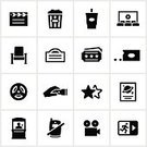 Symbol,Movie Theater,Computer Icon,Seat,Movie,Film Industry,Ticket Counter,Icon Set,Film Projector,Popcorn,Entertainment,Movie Ticket,Film Poster,Film Reel,Theater Marquee,Soda,Exit Sign,Usher,Snack,Mobile Phone,Candy,Flashlight,No Cellphones,Movie Poster