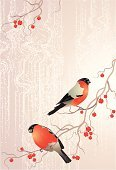 Bird,Christmas,Berry,Winter,Branch,Tree,Berry Fruit,Bullfinch,Holiday,January,Greeting,Nature,Snow,Twig,Animal,Greeting Card,Season,Red,Rowanberry,Cold - Termperature,Wildlife,New,Feather,Vector,Color Image,Computer Graphic,Snowflake,Colors,Fruit,Frozen,Stem,December,Year,Celebration,Image,Holidays And Celebrations,Christmas,Art,Wing,Nature,Beak,Ilustration,Nature Backgrounds,Perching,Snowing,Design,Composition,Food And Drink,Frost,White,New Year's,Backgrounds
