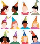 Birthday,Party Hat,Little Girls,Party - Social Event,Party Horn Blower,Child,Human Face,Icon Set,Isolated,People,Little Boys,Computer Icon,Color Image,Pigtails,Headshot,Isolated On White,Caucasian Ethnicity,Cute,Vibrant Color,Head And Shoulders,Parties,African Descent,Set,Holidays And Celebrations,Multi Colored,Christmas,Vector,Illustrations And Vector Art,Ilustration