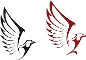 Eagle - Bird,Wing,Falcon - Bird,Sign,Hawk - Bird,Freedom,Shield,Bird,Symbol,Vector,Feather,Royalty,Power,Insignia,Silhouette,Courage,Mascot,Tattoo,Abstract,Flying,Computer Graphic,Majestic,Shape,Ilustration,White,Animal,Animal Head,Design Element,Label,Protection,Claw,Design,Bodyguard,Black Color,USA,Independence,Pattern,Part Of,American Culture,Isolated,Cultures,Decoration,Outline,National Landmark,Beak,The Americas,Coat