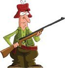 Hunter,Hunting,Cartoon,Gun,Waistcoat,Men,Target Shooting,Vector,Ilustration,One Person,People,Fun,Weapon,Ammunition,Illustrations And Vector Art,Characters,Green Color,Cute,Male,gunner,Pencil Drawing,Drawing - Art Product,Vector Cartoons,Isolated Objects,Objects with Clipping Paths,Adult,Isolated On White,People,Drawing - Activity,Isolated