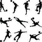 Soccer,Soccer Player,Silhouette,Back Lit,Soccer Ball,Sport,Goalie,Kicking,Outline,Human Head,Ball,Human Foot,Vector,The Human Body,Heading the Ball,Action,Playing,Dribbling,Adult,Ilustration,Running,Isolated,Jumping,People,Black Color,High Up,Shooting at Goal,Team Sports,Mid-Air,Male,Scoring,Sports And Fitness,Passing,Men,Illustrations And Vector Art,People