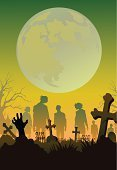 Zombie,Backgrounds,Human Hand,Halloween,Tombstone,Walking,Dead,Spooky,Silhouette,Horror,Cartoon,Tree,Night,Cemetery,Party - Social Event,Banner,Monster,Shock,Grave,Fear,Placard,Terrified,Tomb,Dark,Moon Surface,Grass,Dead Person,Moon,Vector,ghoul,Undead,Ilustration,Cross,Illustrations And Vector Art,Vector Backgrounds,Autumn,Celebration,Evil,Season,Halloween,Full Moon,Holiday,Black Color,Holidays And Celebrations,Design,Death,People,Vector Cartoons,The Human Body,Moonlight