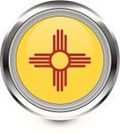 New Mexico,Flag,Interface Icons,Travel Locations,Shiny,Badge,Vector,Computer Icon