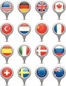 Flag,Straight Pin,British Flag,USA,Symbol,Icon Set,National Flag,Interface Icons,Bubble,UK,American Flag,Germany,Italy,Sweden,Spain,China - East Asia,Russia,European Union Flag,Netherlands,Europe,France,Canada,Vector,Denmark,Norway,Australia,Turkey - Middle East,England,Ilustration,Illustrations And Vector Art,Reflection,Computer Icon,Landmarks,Insignia,Shiny,North America,Vector Icons,Label,Asia,Multi Colored,Travel Locations,Switzerland,southern cross