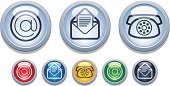 Connection,Symbol,Computer Icon,Icon Set,E-Mail,Telephone,Interface Icons,Communication,Mail,Shiny,'at' Symbol,Global Communications,Push Button,Concepts,Ideas,Horizontal,Computer Network,Internet,In A Row,White,Horizon,No People,Ilustration,Collection