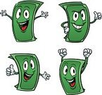 Currency,Cartoon,Dollar,Characters,Thumbs Up,Bill,Happiness,Cheerful,Success,Vector,Isolated,Illustrations And Vector Art,Vector Cartoons,Paper,Security,Cute,Achievement,Cool,Green Color