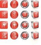 Arthritis,Stress Ball,Human Hand,Symbol,Pain,Chiropractor,Wrist,Icon Set,Interface Icons,Computer Icon,Push Button,Set,Bright,Digitally Generated Image,Curve,Square,Group of Objects,Three-dimensional Shape,Medical Exam,Label,Chrome,Squeezing,Collection,Square Shape,Vibrant Color,Red,Circle,Brightly Lit,Shadow,Vector,Reflection,Ilustration,Metal,Uncomfortable