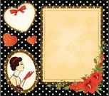 Flower,Lace - Textile,Heart Shape,Curly Hair,Women,Scroll Shape,Ornate,Doily,Elegance,Frame,Pattern,Cute,Red,Computer Graphic,Antique,Retro Revival,Beauty,Decoration,Illustrations And Vector Art,Bow,Design Element,Love,People,Ilustration,Fashion,Romance,Fashion,Backgrounds,Swirl,Modern,Luxury,Beauty In Nature,Vector,Female,1940-1980 Retro-Styled Imagery,Old-fashioned,Beautiful,Design,Holidays And Celebrations,Valentine's Day,Beauty And Health,Classic,Ribbon,Obsolete