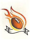 American Football - Sport,Football,Fire - Natural Phenomenon,Flame,Coat Of Arms,Dirty,Sport,Grunge,Ball,Sphere,Ilustration,Digitally Generated Image,Insignia,Burning,Ribbon,Old-fashioned,Placard,Vibrant Color,Yellow,Competitive Sport,Distressed,Orange Color,Scratched,Black Color,Banner,Obsolete,Red,Damaged,Vector