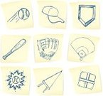 Baseballs,Baseball Diamond,Baseball - Sport,Doodle,Pennant,Base,Home Base,Drawing - Art Product,Adhesive Note,Sport,Baseball Cap,Sports Bat,Team Sport,Vector,Baseball Glove,Memories,Playing Field,Text,Paper,Note Pad,Office Supply,Ilustration,hand drawn,Arrangement,remind,Collection,Announcement Message,Message,Art Product,Correspondence,Reminder,Set,Baseball Bat,Pen And Ink,Group of Objects