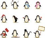 Penguin,Animal,Christmas,Characters,Cute,Symbol,Computer Icon,Icon Set,Winter,Cartoon,Holiday,Sign,Cheerful,Vector,Scarf,Happiness,Ilustration,Banner,Placard,Singing,Design Element,Sled,Clip Art,Mitten,Headscarf,Blank,Lollipop,Top Hat,Male,Female,Shovel,Santa Hat,snow shovel,Copy Space,Cane,Winter,Nature,Holidays And Celebrations,Christmas