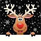 Reindeer,Christmas,Deer,Holiday,Cheerful,Snowflake,Blank,Backgrounds,Antler,Sign,Cartoon,Holding,Humor,Greeting Card,Animal Nose,Red,Animal,Paper,Smiling,Art,Snowing,Winter,Cute,Vector,New Year's,Computer Graphic,Season,Black Color,White,Characters,Snow,Brown,Modern,Celebration,Year,Christmas,Copy Space,Holiday Symbols,Sky,Ilustration,Star Shape,Night,Colors,Holidays And Celebrations