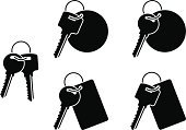 Key,Silhouette,Bunch,Group of Objects,Vector,Unlocking,Label,Ilustration,Set,Isolated,Symbol,Locking,Illustrations And Vector Art,Isolated Objects,Objects/Equipment,Isolated On White,Image,Stencil,Elegance,Black Color