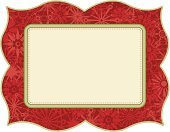 Frame,Christmas,Holiday,Old-fashioned,Retro Revival,Snowflake,Red,Vector,1940-1980 Retro-Styled Imagery,Turquoise,Horizontal,1960s Style,1970s Style,Ilustration,Season,Nature,Holiday Backgrounds,Christmas,Winter,Holidays And Celebrations