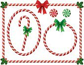 Candy Cane,Frame,Christmas,Picture Frame,Candy,Circle,Striped,Ellipse,Bow,Peppermint,Holiday,Stick - Plant Part,Ribbon,Greeting,Red,Backgrounds,White,Holly,Rectangle,Winter,Season,Empty,Christmas Decoration,Sweet Food,Berry Fruit,Fruit Berries,Peppermint Stick,Berry,December,Mint,Blank,Green Color,Cultures,holly berries,Christmas Theme