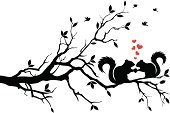 Squirrel,Tree,Bird,Branch,Love,Autumn,Chipmunk,Heart Shape,Cute,Ilustration,Drawing - Art Product,Holding,Nut - Food,Black Color,Animal Head,Animal,White,Vector,Leaf,Acorn,Food,Animal Ear,Red,Plant,Fur,Animal Backgrounds,Animals And Pets,Season,Wild Animals,Tail,Wildlife,Nature,Vector Backgrounds,Illustrations And Vector Art,Profile View